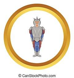 Medieval knight vector icon