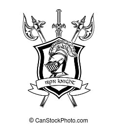 Medieval knight vector illustration