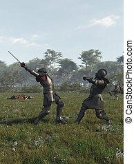 Medieval Knights Battle