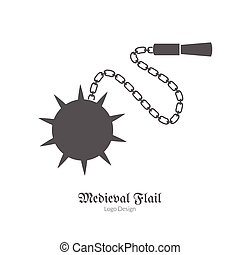 Medieval logo emblem template, black simple style - Medieval...