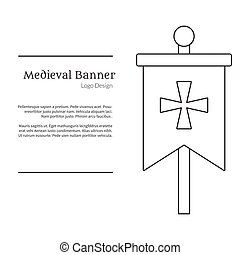 banner template in medieval style illustration