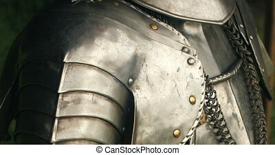 Medieval metal armor - Armour of the medieval knight.