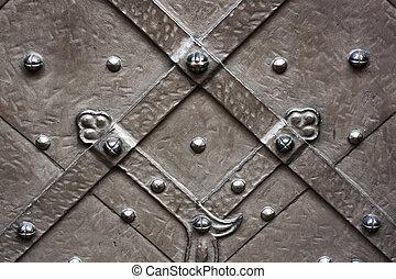 Medieval metallic texture.