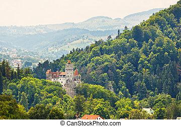 medieval, mito, dracula., también, conocido, castillo,...