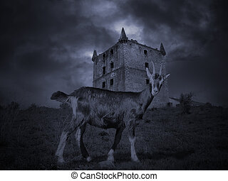 Medieval mysterious goat