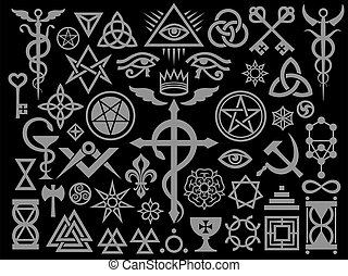 Medieval Occult Signs And Magic Stamps (Silver Black Edition)