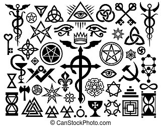 Medieval Occult Signs And Magic Stamps (Origin set) -...