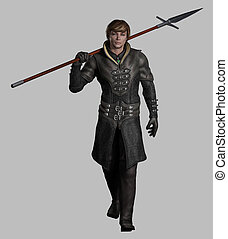Medieval or Fantasy Spearman - Late Medieval, Renaissance or...