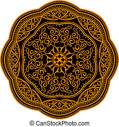 Medieval ornament - Circle ornament in medieval style for...