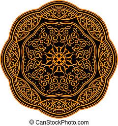 medieval, ornamento