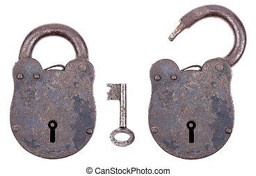 Medieval Padlock With Key