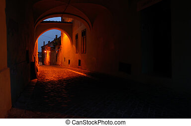 Medieval passage in Sibiu city - Romania