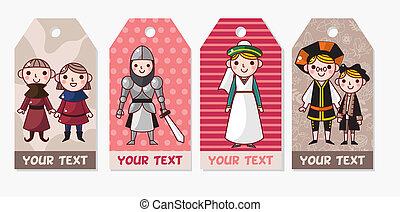 Medieval people card