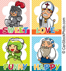 medieval people card