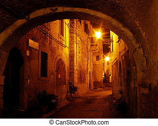 medieval village of arpino in italy