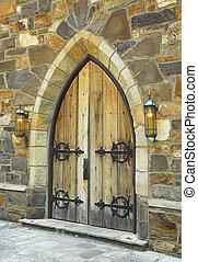 medieval, porta