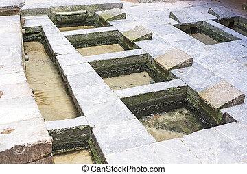 Medieval public wash in Cefalu