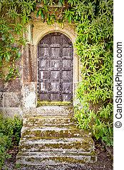 medieval, puerta