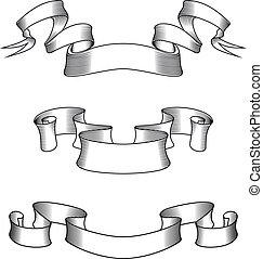 Medieval ribbons - Medieval abstract ribbons set for...