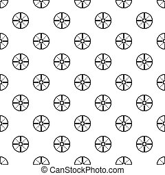 Medieval round shield pattern, simple style