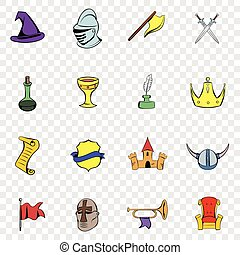 Medieval set icons
