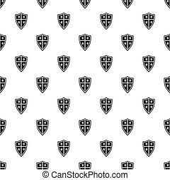 Medieval shield pattern, simple style