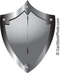 Medieval shield - Steel shield medieval warrior heraldic...