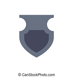 medieval shield with flat style icon