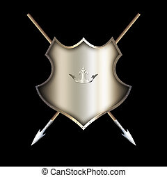 Medieval shield with spears.