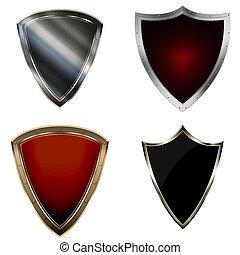 Medieval shields set.