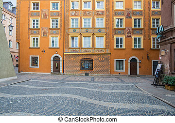 Square in Old Town of Warsaw, Poland