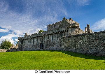 Medieval stone castle in Scotland