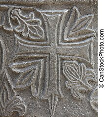 Medieval stone cross