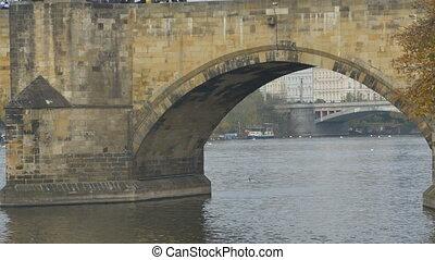 Medieval Stone Foot Bridge - Medieval stonework footbridge...