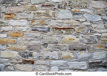 Medieval stone wall background