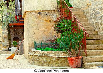 medieval street in Croatia.