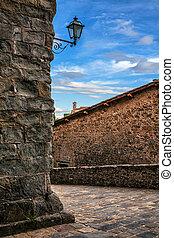 Medieval street in Montecatini Alto
