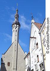 Medieval street in Tallinn.