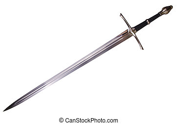 medieval sword - Medieval sword isolated on white background...