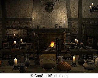 medieval, taverna