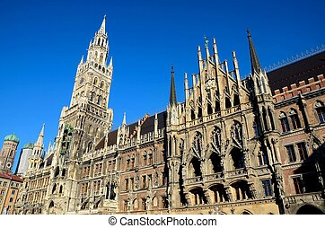 Medieval Town Hall building Munich