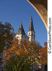 Medieval Town - Medieval town square with city hall and ...