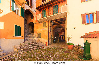 Medieval town - View of medieval town in Italy