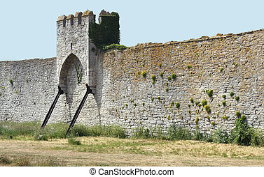 Medieval Town Wall and Tower - Medieval town wall with ...