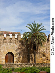 medieval town wall of Cordoba, Spain - medieval town wall of...