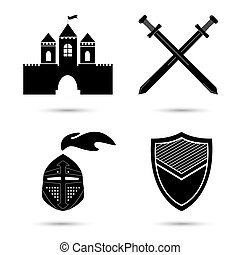 Medieval Vector Icons Set