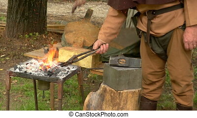 medieval village 26 - Reenactment of medieval life in the...