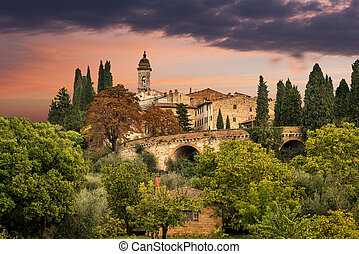 medieval village in Tuscany