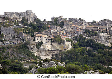 medieval village of les baux de provence in france