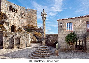 medieval village in the castle of Sortelha. Pelourinho